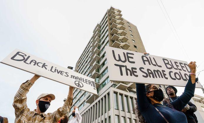 Het protest tegen racisme wakkerde sinds de brutale dood van George Floyd de voorbije dagen aan.
