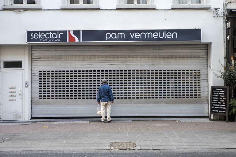 De rolluiken van PAM Vermeulen blijven gesloten. Woensdag is de reisorganisatie officieel failliet verklaard.