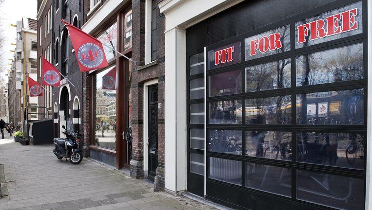 Een vestiging van Fit For Free aan de Haarlemmer Houttuinen. Beeld Maarten Steenvoort