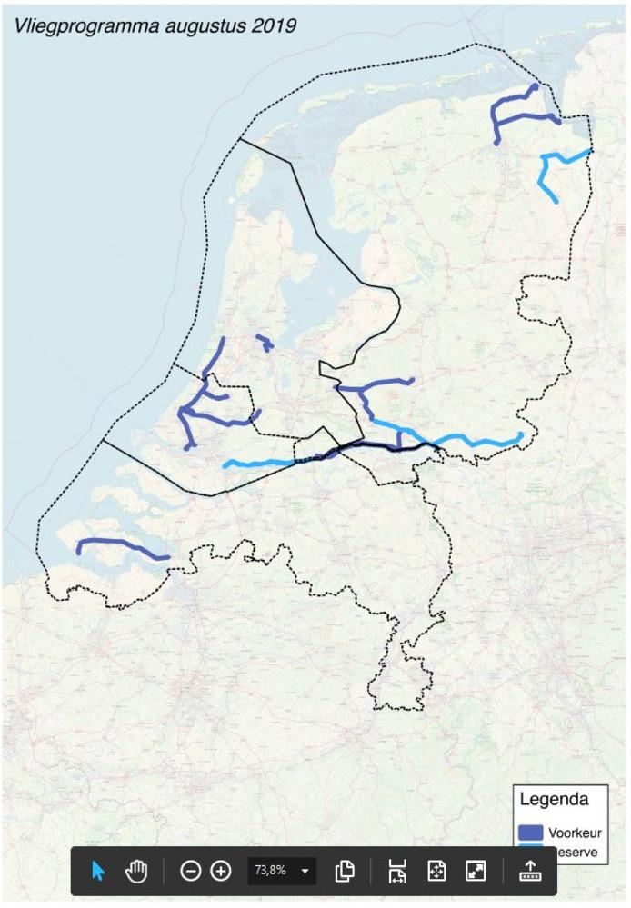 De spoorlijnen die in augustus in beeld worden gebracht.