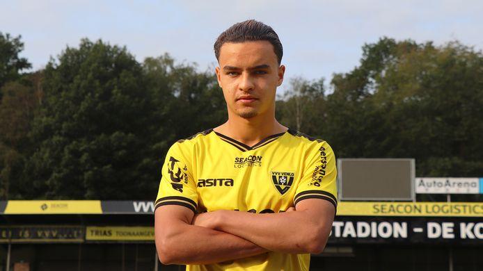 Nezar S'rifi bij zijn voorstelling bij VVV Venlo in september. De Mechelaar speelde echter geen minuut in de Eredivisie.