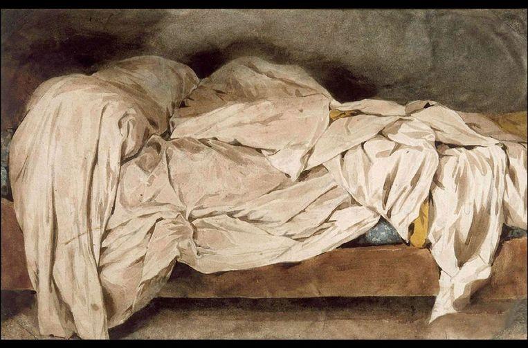 Eugene Delacroix 'Le lit defait', 1828 Beeld RV