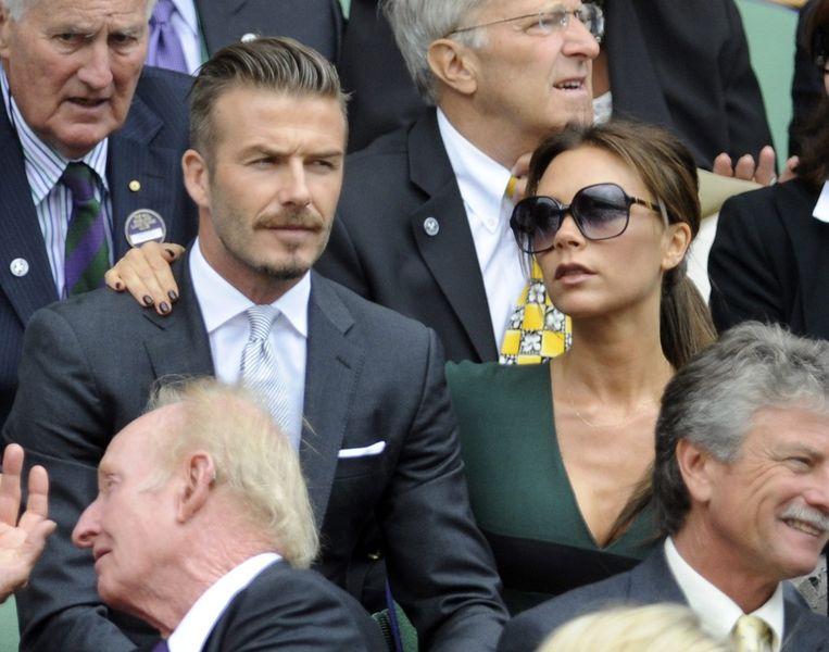 Niet het huwelijk maar het merk Beckham valt om. Beeld epa