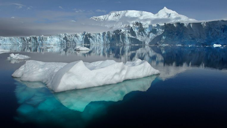 Ijsbergen bij de Sheldongletsjes op Antarctica. Beeld Reuters