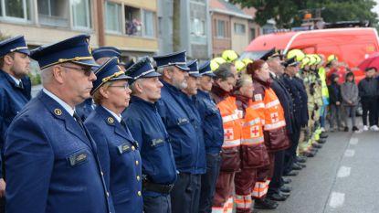 Slachtoffers van brand Beringen herdacht aan brandweermonument