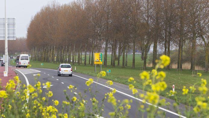 oorne-Putten wil de N57 verbreden tussen Brielle en de Haringvlietdam, net als hier richting Rotterdam