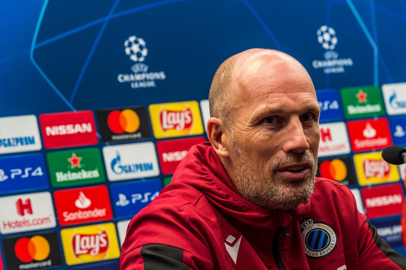 """""""En football, on a toujours une chance"""", estime Philippe Clement avant d'entrer en lice en Ligue des Champions."""