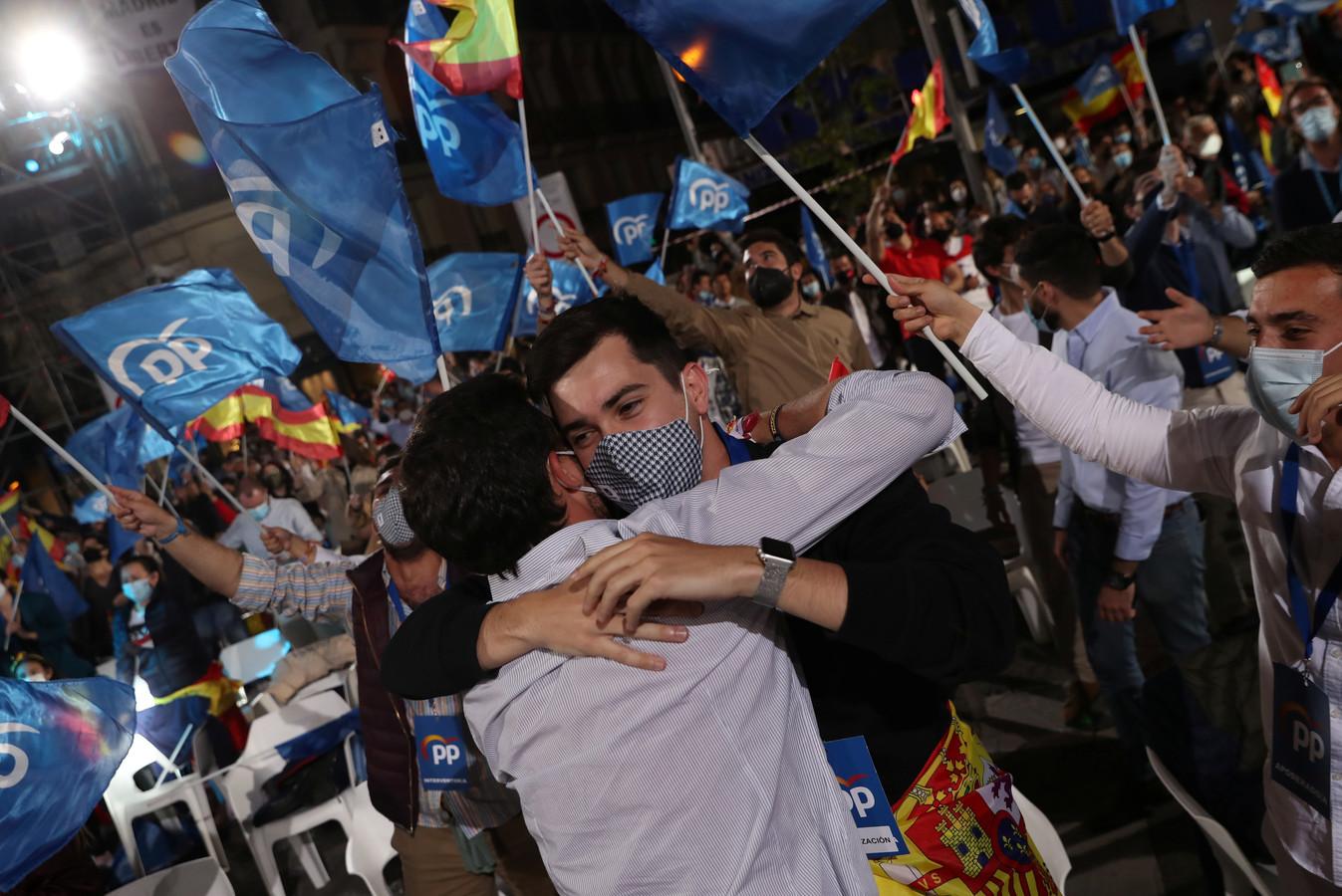 Le Parti Populaire (PP) fête sa victoire