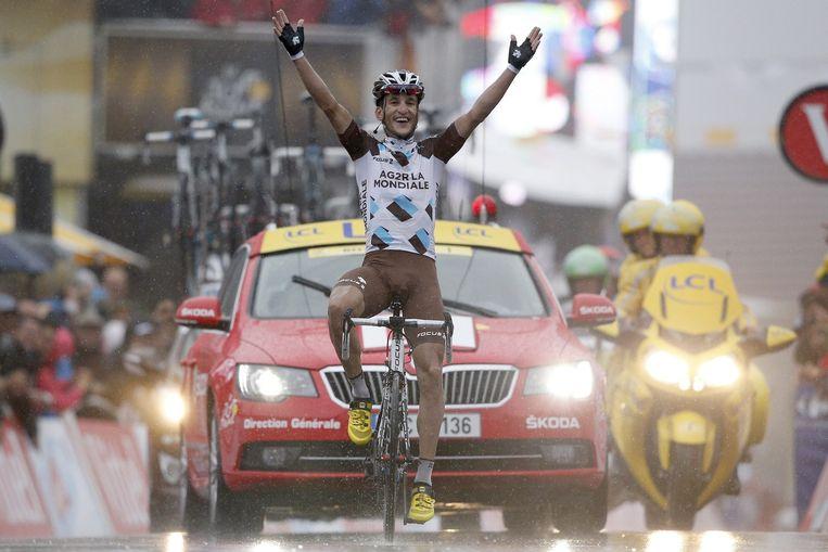 Boven Gérardmer boekte Kadri de eerste Franse ritzege in deze Tour én de mooiste in zijn carrière. Beeld EPA