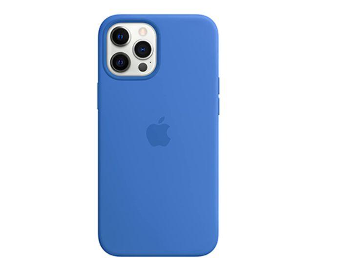 Apple iPhone 12 Pro Max Silicone Back Cover MagSafe Capri Blue