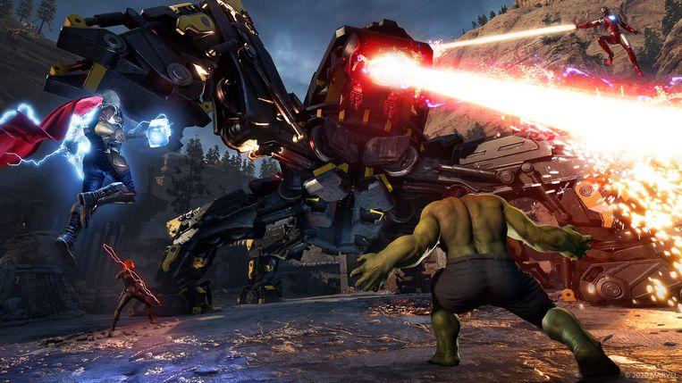De 'combat' in 'Marvel's Avengers' is van het soort dat je al vaak hebt gespeeld. Gewoon iets beter op alle vlakken. Vernieuwend is het allerminst.