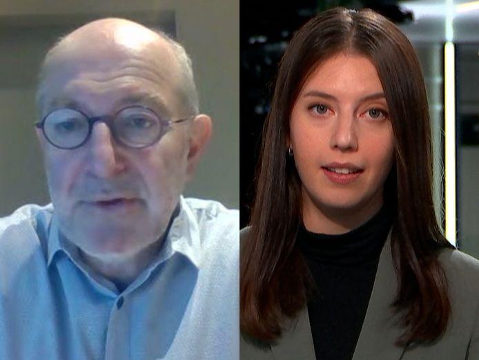 Epidemioloog Pierre Van Damme in gesprek met  Daimy Van den Eede
