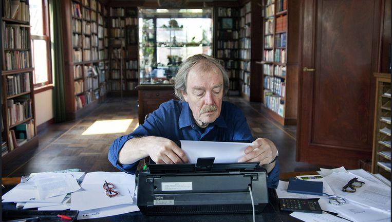 'Schrijver zijn, dat is leuk, maar schrijven is voor mij echt verschrikkelijk.' Beeld