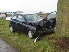 Automobilist raakt gewond door botsing op boom bij Giessen