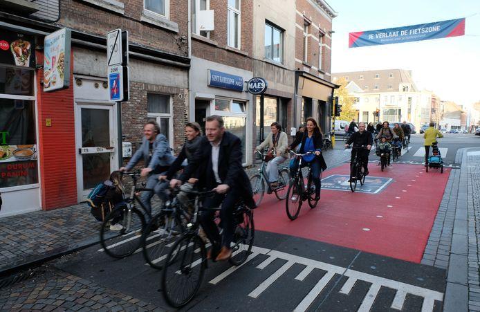 MECHELEN - Opening van grootste fietszone van Vlaanderen in Mechelen