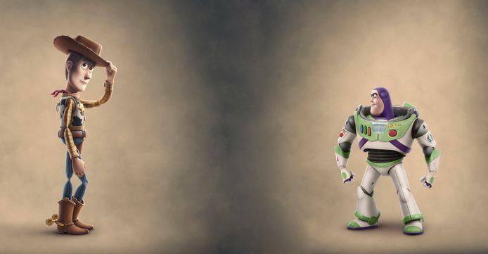 Woody en Buzz Lightyear in 'Toy Story 4'.