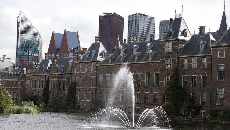 Het Binnenhof en de hofvijver. Beeld anp