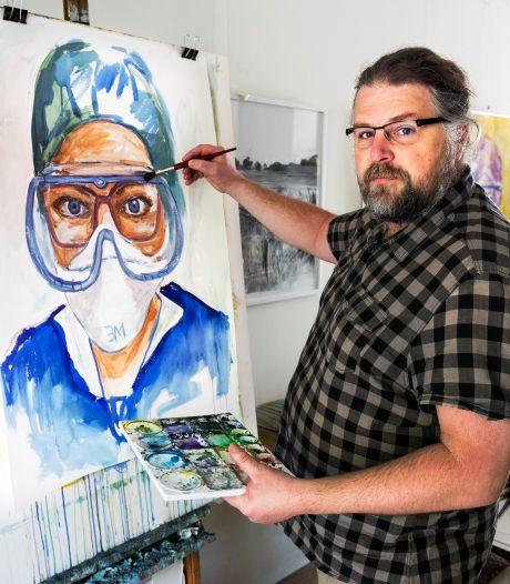 Marco schilderde zorgwerkers achter hun masker, nu vertellen ze hun verhaal