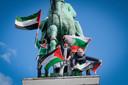 Zaterdag vond de betoging tegen de escalatie van het geweld in Israël plaats op het Albertinapark.