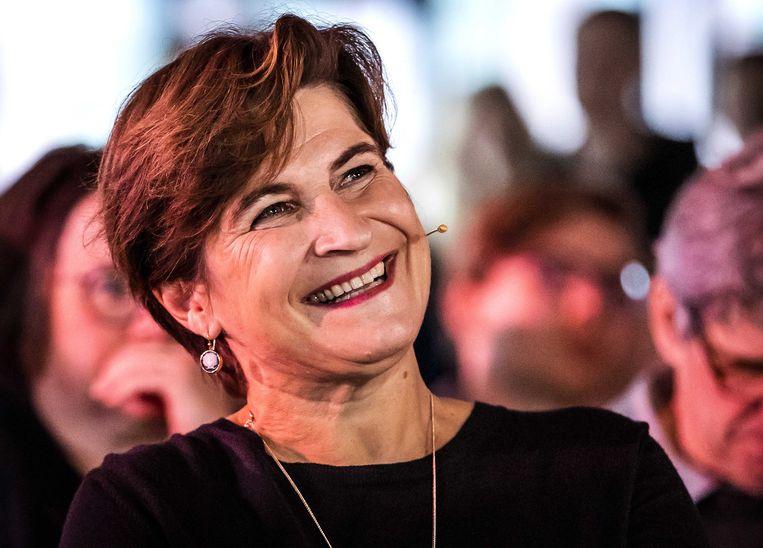 PvdA-leider Lilianne Ploumen bij een ledenraad in Eindhoven. Beeld ANP