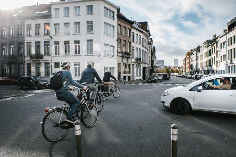 Fietsers in Antwerpen Beeld Wouter Van Vooren