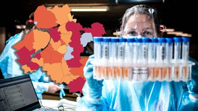KAART   Meer besmettingen in Oost-Nederland, Staphorst negatieve uitschieter