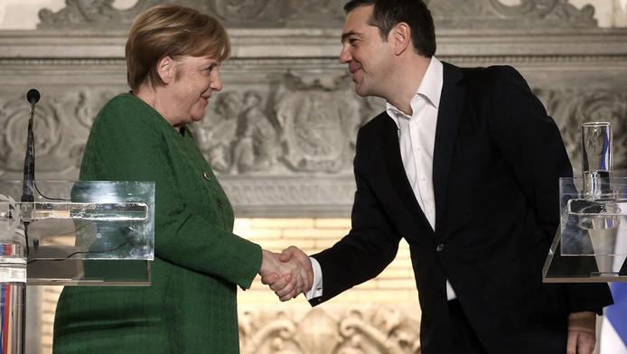 Rencontre entre Angela Merkel et Alexis Tsipras, le 10 janvier