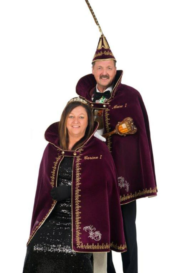 Prins Marc I en Prinses Carine I gaan zondag voorop in de viering van 55 jaar Heiknuiters.