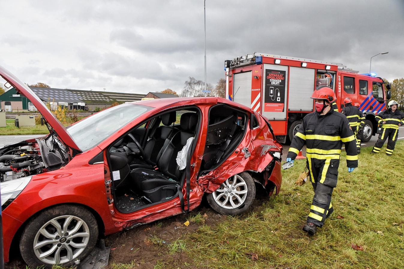 Ongeluk met twee auto's in Goirle.