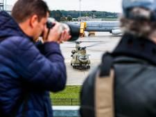 Gevechtsheli's in Eindhoven in trek bij spotters: 'Die Amerikanen nemen natuurlijk geen onnodige risico's'