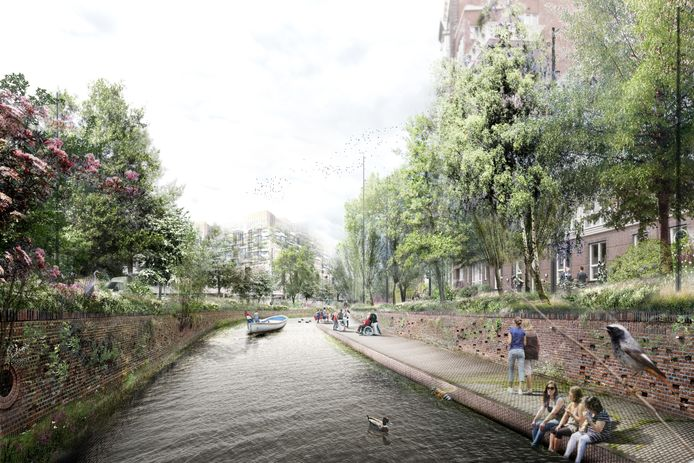 Een toekomstbeeld van de Nieuwe Mark langs de Markendaalseweg.