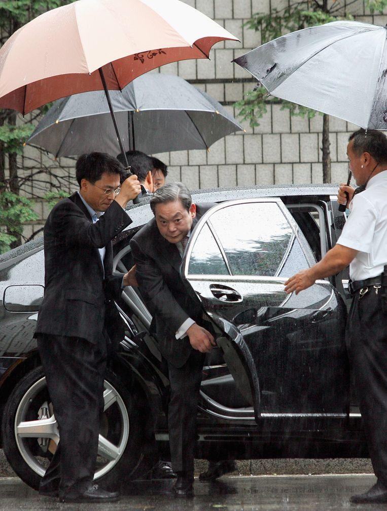 De toenmalige Samsung-topman Lee Kun-hee in 2016. Hij overleed een halfjaar geleden.  Beeld Getty