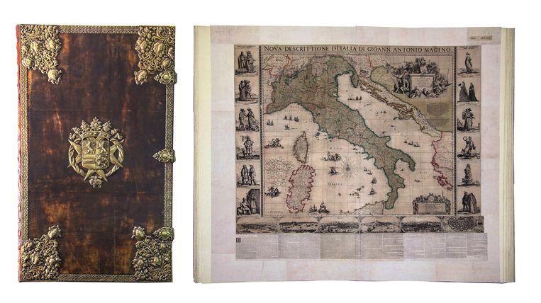 De Atlas van de Grote Keurvorst van Brandenburg weegt 125 kg, meet 170 bij 220 cm en telt 38 kaarten. Beeld © Koninklijk Paleis Amsterdam