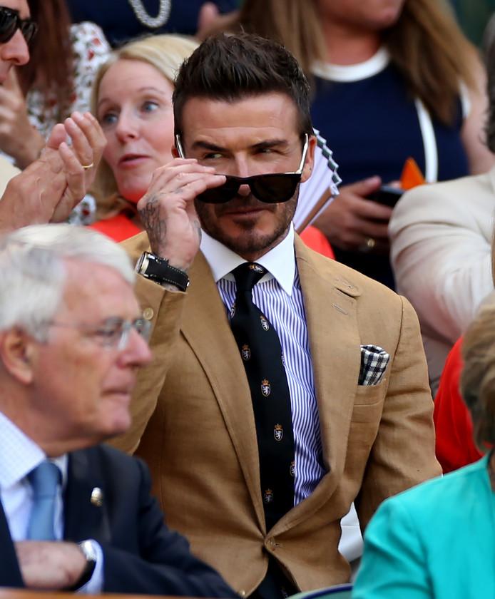 David Beckham als toeschouwer in de Royal Box.
