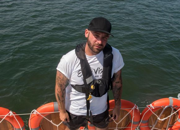 Tom Herck zeilde het kanaal over met een bijzondere missie.