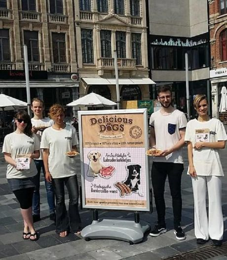 Distribution de... viande de chien à Louvain