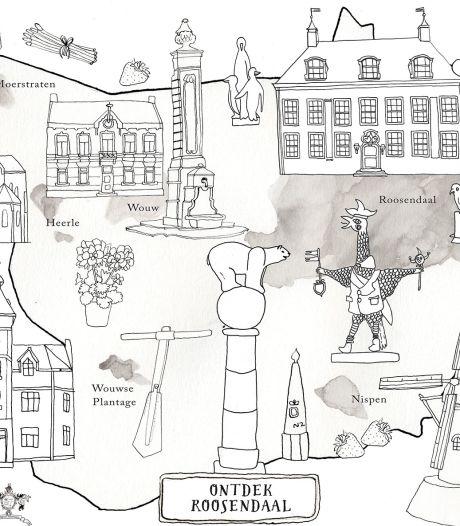 Nostalgische kleurplaat van Roosendaal om coronasleur van senioren te doorbreken
