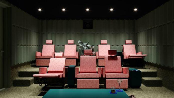 Een concept voor een zaal met plek voor zeven personen