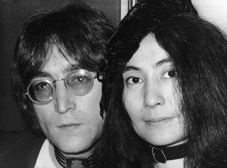John Lennon en Yoko Ono Beeld Getty Images