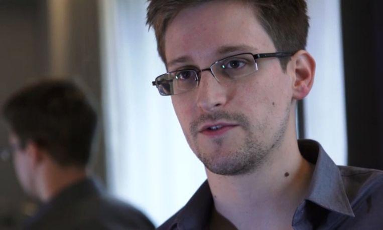 Klokkenluider Edward Snowden. Beeld BELGA