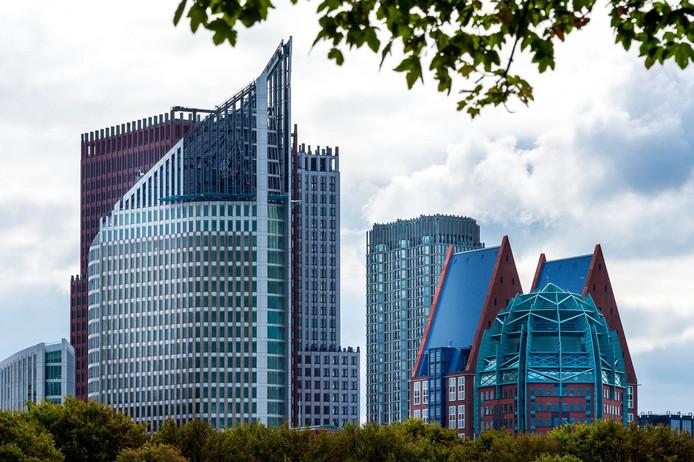 Uitzicht op het ministerie van Volksgezondheid in Den Haag.