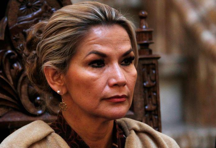 Interim-president Jeanine Áñez