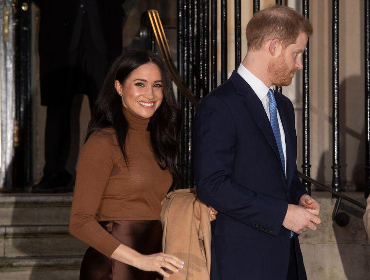 Meghan Markle en haar echtgenoot, prins Harry. Beeld EPA