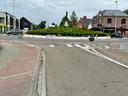 Het rond punt in Rotselaar werd afgesloten.