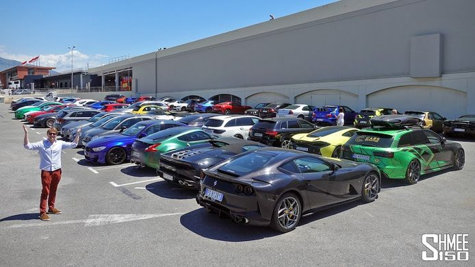 In beslag genomen supersportwagens in Monaco