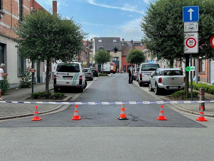 De Voorzienigheidsstraat in Kortrijk bleef een tijdlang afgesloten door het gaslek.