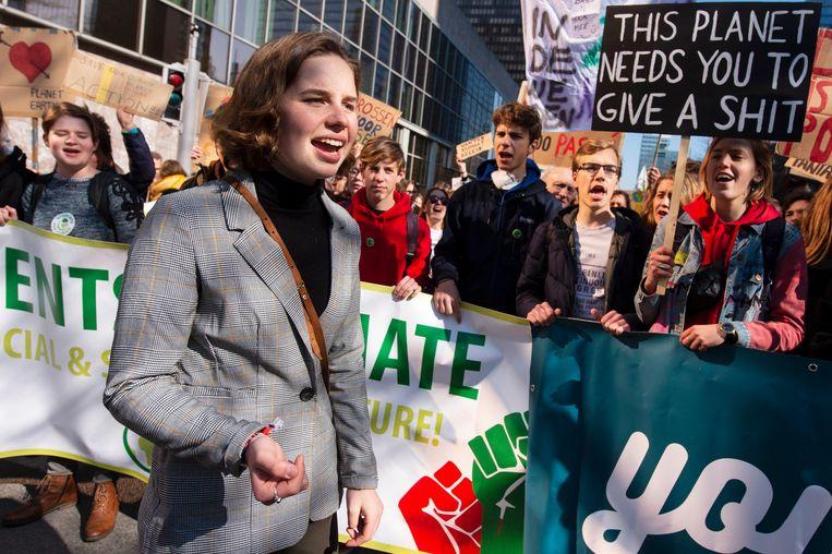 Youth for Climate wil vrijdag een nieuwe schoolstaking organiseren. De organisatie van onder meer Anuna De Wever verzamelt om 13.30 uur aan het Brusselse Centraal station (Archiefbeeld ter illustratie). Beeld Photo News
