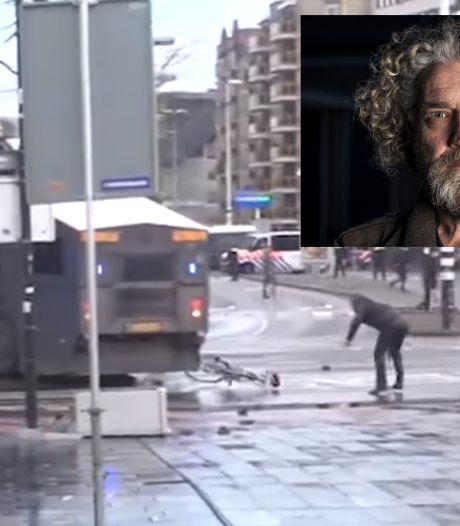 Tegelzetter Marcel (47) uit Nunspeet nog zeker twee weken in de cel voor gooien van fiets naar ME