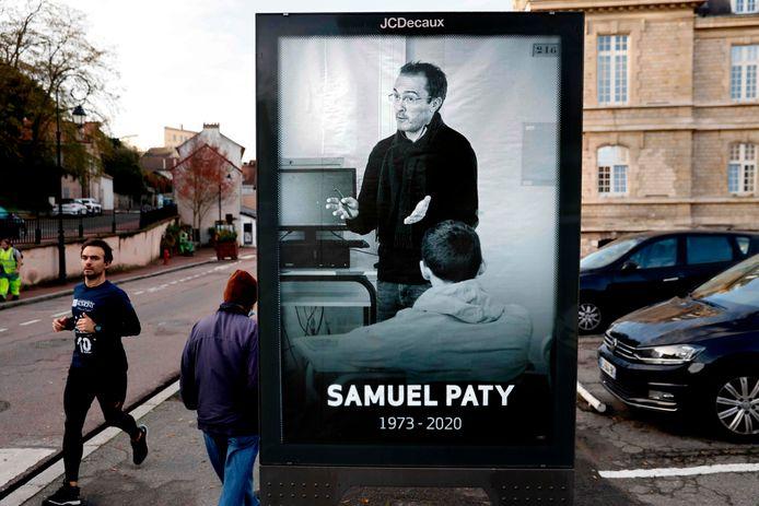 De moord op Paty leidde tot veel woede in Frankrijk.