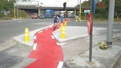 Zwart kruispunt al iets veiliger voor fietsers